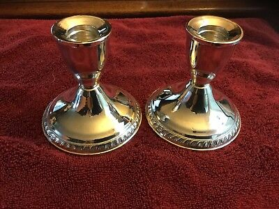Pair Of Duchin Creations Sterling Silver Candlesticks Weighted