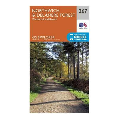 New Os Explorer 267 Northwich Delamere Forest Map Walking Hiking Guide