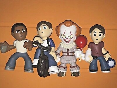 IT Movie Funko Mystery Minis_Bill, Mike, Eddie & Pennywise_ LOT 4 NEW