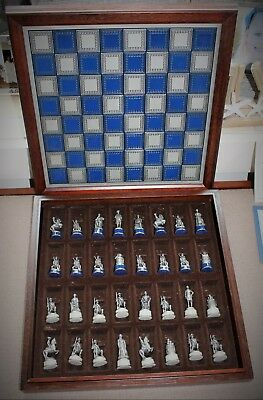 New Franklin Mint 1983 National Historical Society Pewter Civil War Chess Set