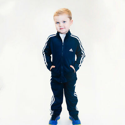 adidas Toddler Two-Piece Track Jacket & Pants Gift Set Navy 6