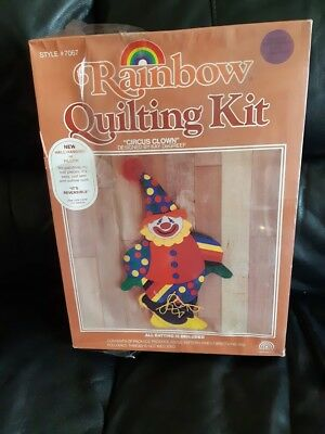 RAINBOW Quilt Kit Circus Clown designed by Kay DeGreef new and unopened