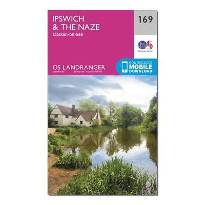 New Ordnance Survey Landranger 169 Ipswich The Naze & Clacton-on-Sea Map