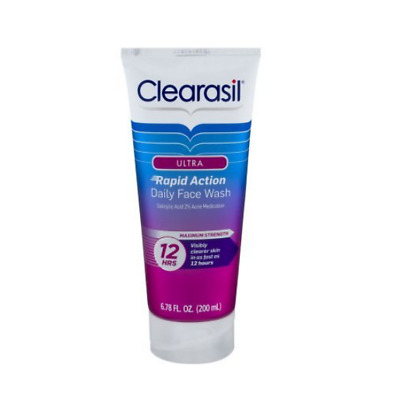Clearasil Ultra Rapid Action Daily Face Wash Acne Treatment Max 6.78 oz Exp 4/19