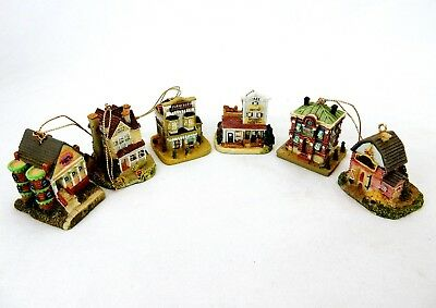 Vintage Liberty Falls Village Ornaments, Buildings & Stores, Lot of 6