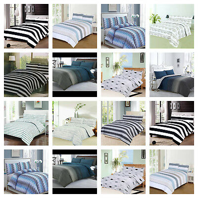 Luxury 100% Egyptian Cotton Printed Duvet Cover Sets Bedding Sets All Sizes
