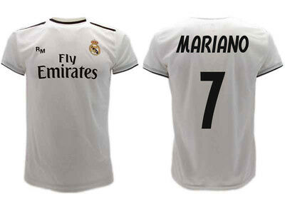 MAGLIA REAL MADRID Mariano 2019 Ufficiale Divisa 2018 Díaz Mejía 7 Home Bianca