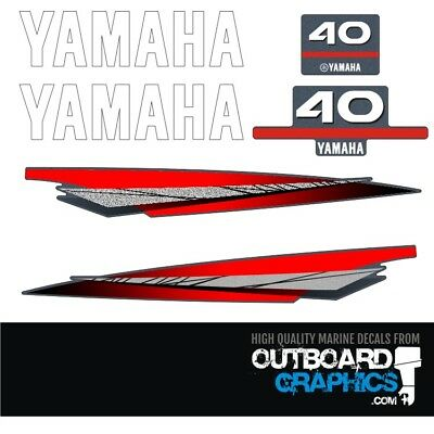 Yamaha 40hp 2 stroke outboard engine decals/sticker kit