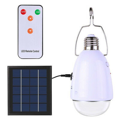 Multi-functional LED Solar Powered Light E27 12-LED Dimmable Lamp With Remote US