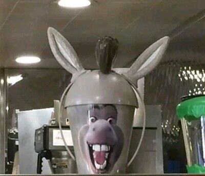 Shrek the DONKEY Cup w Headband Ears DreamWorks Dennys Diner Limited Edition NEW
