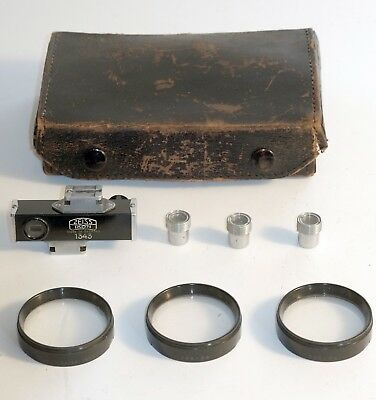 Vintage Zeiss Contameter 1343 w/ 3 Macro Lenses + Eyepiece for Contax I/II, case