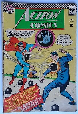 Action Comics Superman Vol 1 #341 September 1966 (Fr Condition)