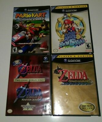 Super Mario Sunshine The Legend of Zelda Ocarina of Time Masters Quest Gamecube