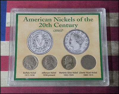 American Nickels of the 20th Century Set - 4 Coins - BINo