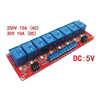 5V 8 channel Relay module optocoupler isolation High low level trigger F Arduino