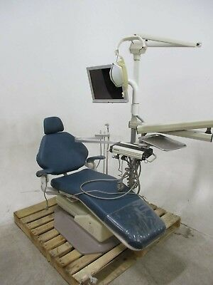 Adec 1020 Dental Exam Chair w/ Operatory Delivery, Light, & Video Monitor