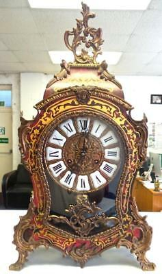 Superb XL Vintage Inlaid Boulle Ting Tang Double Bell Bracket / Table clock