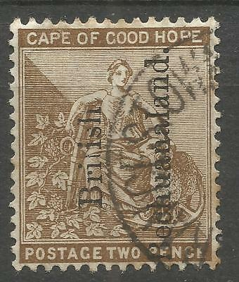 "BECHUANALAND / BOTSWANA. QV. 1891. OVERPRINT FLAW ""Brilish"" AND TOP OF ""S"" MISSI"