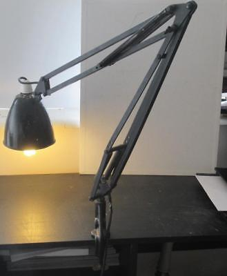Vintage c1950 Industrial Herbert Terry 1209? 'Anglepoise' Lamp with Clamp Base