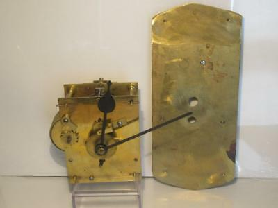 Perfect Recently Serviced Antique Single Fusee Clock Movement with False Plate