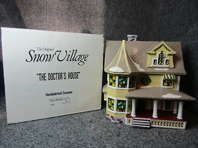 Dept 56 1989 The Snow Village Collection The Doctor's House 5143-8