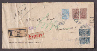 Austria - 1923 Inflation registered express cover with 5 stamps mailed to Berlin