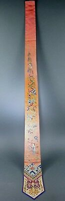 Fine Old Chinese Silk Embroidery Badge Panel Textile Scholar Art