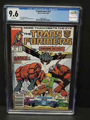 Marvel Comics Transformers #37 1988 Cgc 9.6 White Pages Newsstand Upc