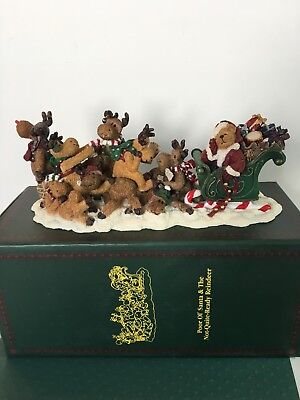 Boyds Bear Christmas- Poor Ol' Santa & the Not-Quite-Ready Reindeer #228459 2ndE