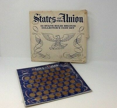 States of the Union 50 State Solid Bronze Collector's Coin Set 1969 Shell Oil Co