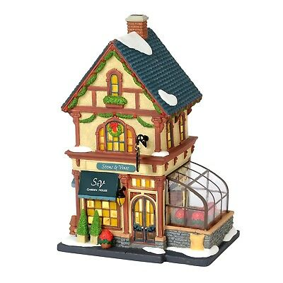Stems & Vines Garden House Dept 56 6000572 Christmas In The City Snow Village A