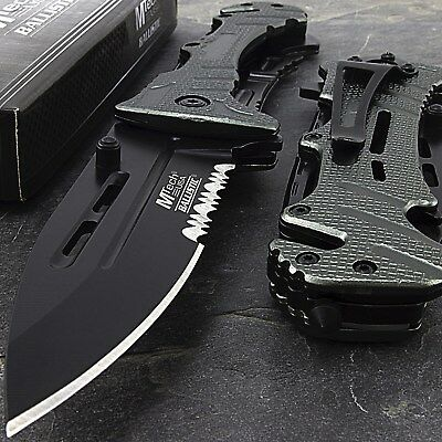 "8"" MTECH USA METALLIC SPRING ASSISTED FOLDING POCKET KNIFE EDC Open Assist Blade"