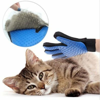 Silicone Glove For Pet Hair Removal Trimming Dog Cat Grooming Shedding Bathing