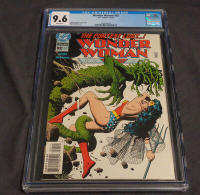 Wonder Woman #92 Dc Comics Copper Age Cgc Graded 9.6 White Pages Bolland Cover