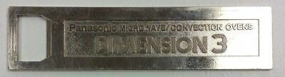 Vintage Panasonic Microwave Ovens The Genius Dimension 3 Bottle Opener Metal