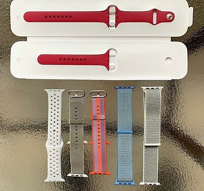 Genuine Apple Watch Silicone Sport Bands 42mm M/L - a few RARE bands