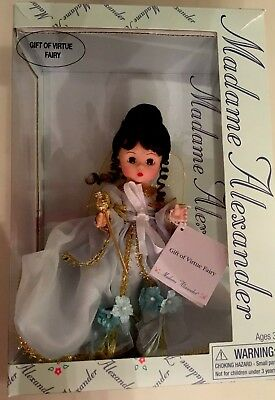 "Madame Alexander 8"" Gift Of Virtue Fairy 39050 In Box W Jeweled Wand"