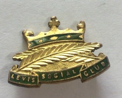 C1920s Levis Social Club Badge Pin Early Adelaide Motorcycle Racing Club