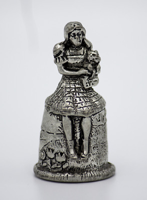 1998 Comstock Creations Wizard of Oz Dorothy Holding Toto Pewter Thimble