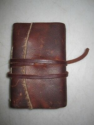 """6.5"""" 100% Natural Leather Handmade Paper Blank Diary Notebook"""
