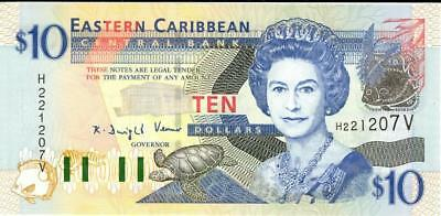 Eastern Caribbean States $10 Currency Banknote 2008  CU