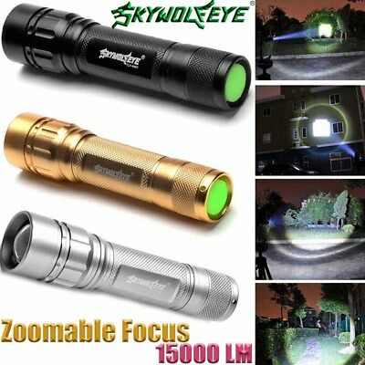 30000LM 3 Modes LED T6 LED Flashlight 18650 Zoomable Torch Camp Lamp Light