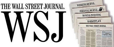 5-MONTH The Wall Street Journal WSJ PRINT ONLY Newspaper Subscription (Mon-Sat)