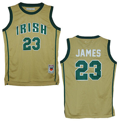 new concept cbea8 b0907 ST. VINCENT - St. Mary Fighting Irish Lebron James Gold High School Jersey