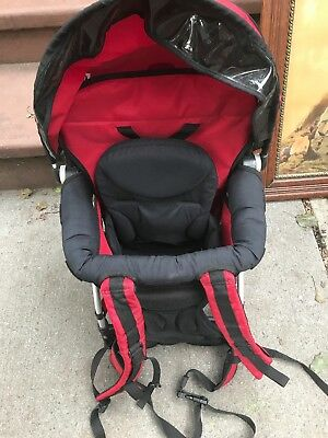 b62191a7309 Used CHICCO Smartsupport Backpack Child Baby Hiking Walking Carrier Red  Infant