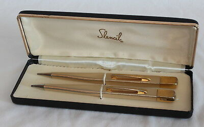 Vintage 50/60's Slencil Set Ballpoint Pen Pencil  Original Box Mid Century