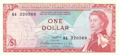 Eastern Caribbean Territories $1 Currency Banknote 1965  XF