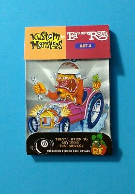 Kustom Monsters by ED ROTH set #1 - RAT FINK Cards/Stickers