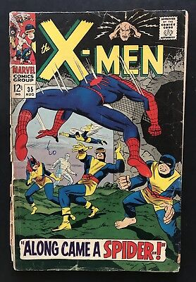 X-MEN #35. Marvel Silver Age Comic. Spider-Man.  Free Shipping. Free Shipping.