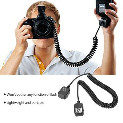 TTL Off-Camera Flash Sync Extension Cord for Canon Nikon Hot Shoe Flashlight LS